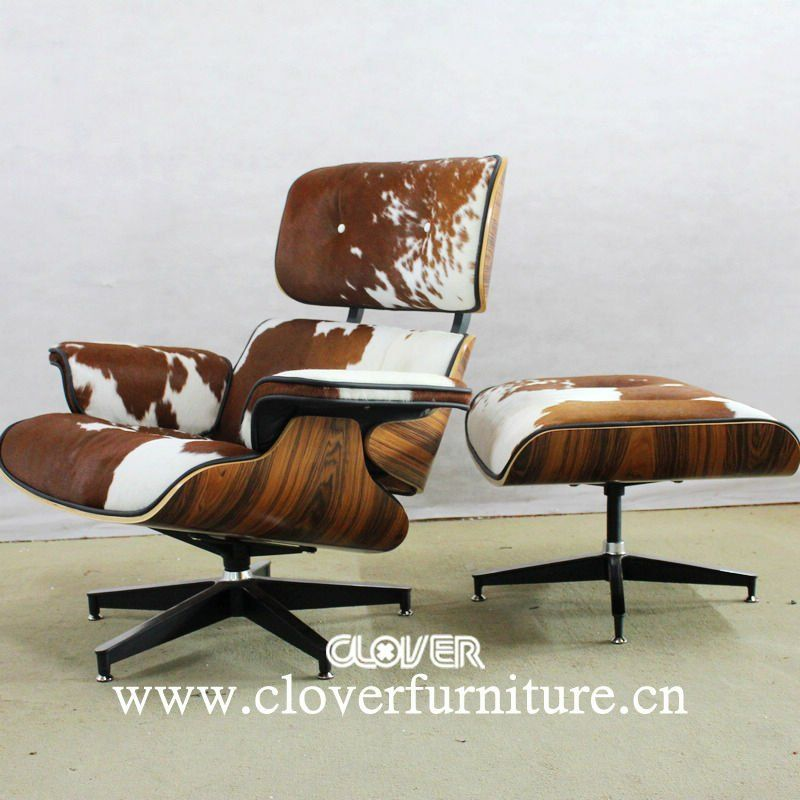 Charles eames lounge chair cowhide new home pinterest for Chaise charles eames patchwork
