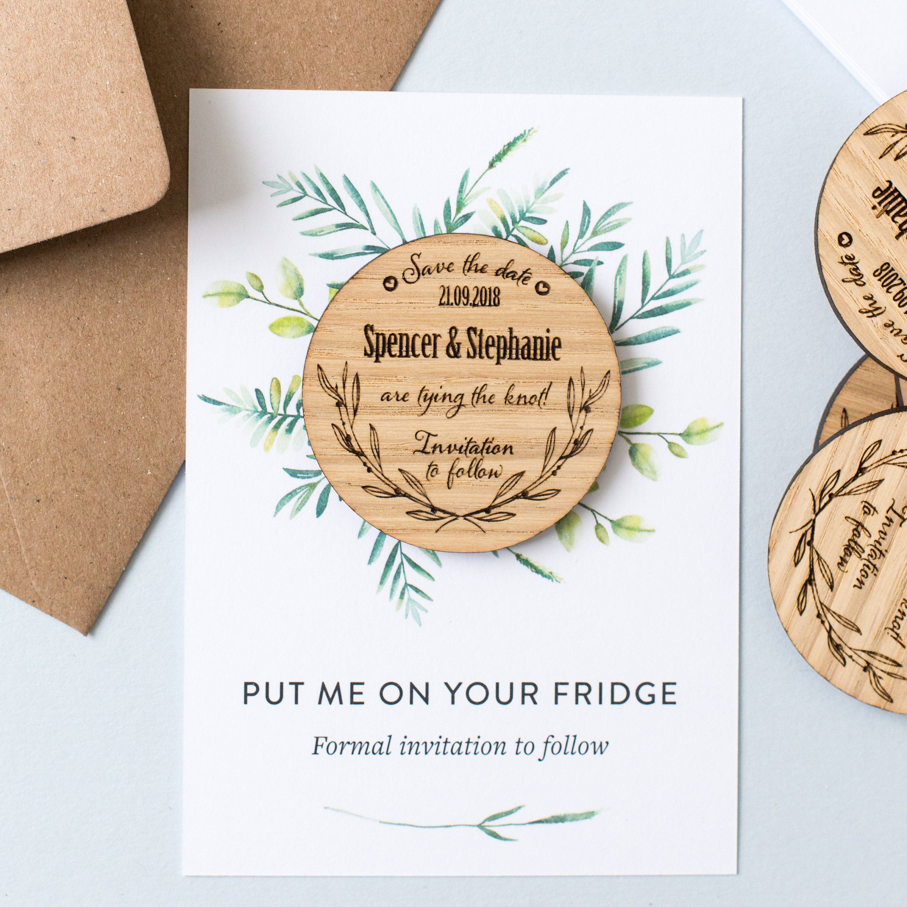 diy save the dates magnets