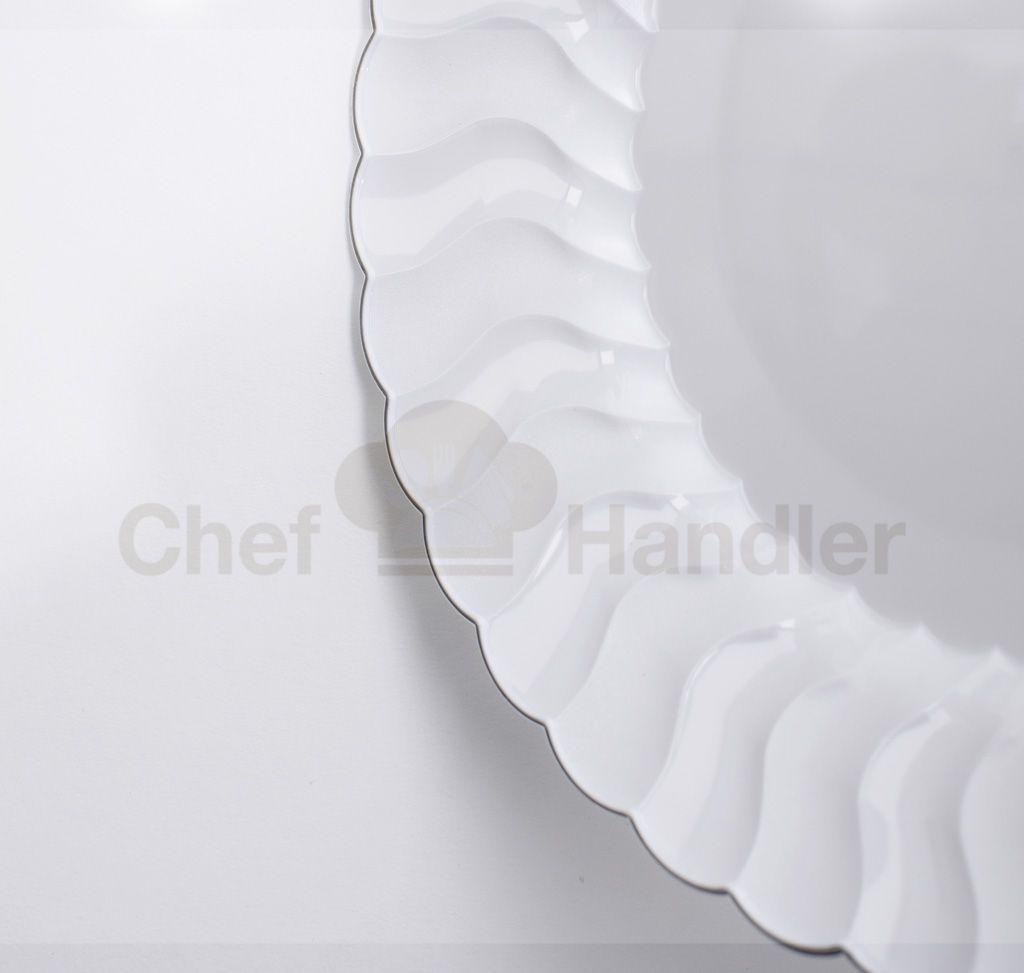 Elite Scalloped Edge White 10.25″ Plastic Plates - 50ct   Plastic ...