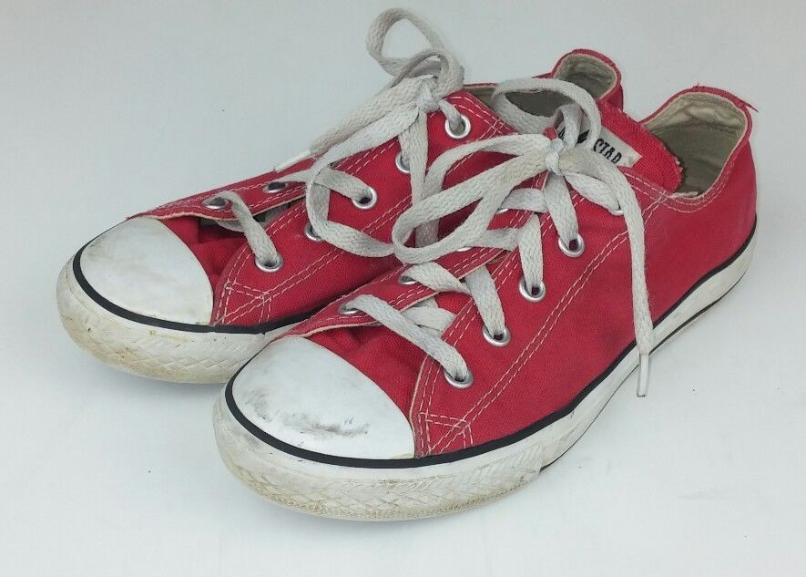 Converse Youth Kids Size 3 Shoe Sneakers Red Canvas Low Top Chuck Taylor  Laces  Converse  CasualShoes 2c8889088