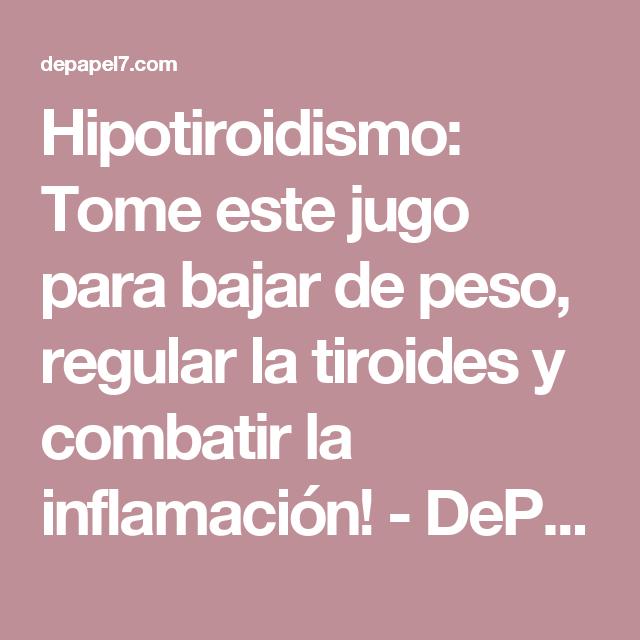 Tengo hipotiroidismo puedo tomar pastillas para adelgazar