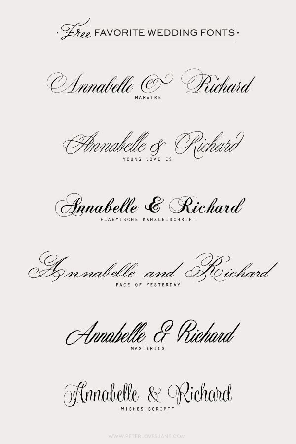 Wedding Scripts Fonts