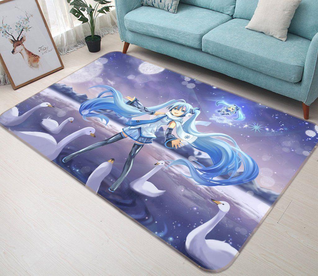 3d Hatsune Miku 569 Anime Non Slip Rug Mat With Images Mat