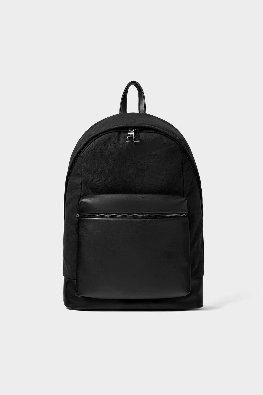 499e903135f Image 4 of BASIC BACKPACK from Zara Messenger Bag Men, Leather Backpack,  Fashion Backpack
