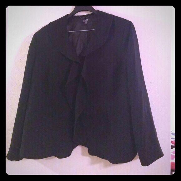 Ruffle front suit jacket Ruffle front suit jacket.  Hook and eye closure Alex Marie Jackets & Coats Blazers
