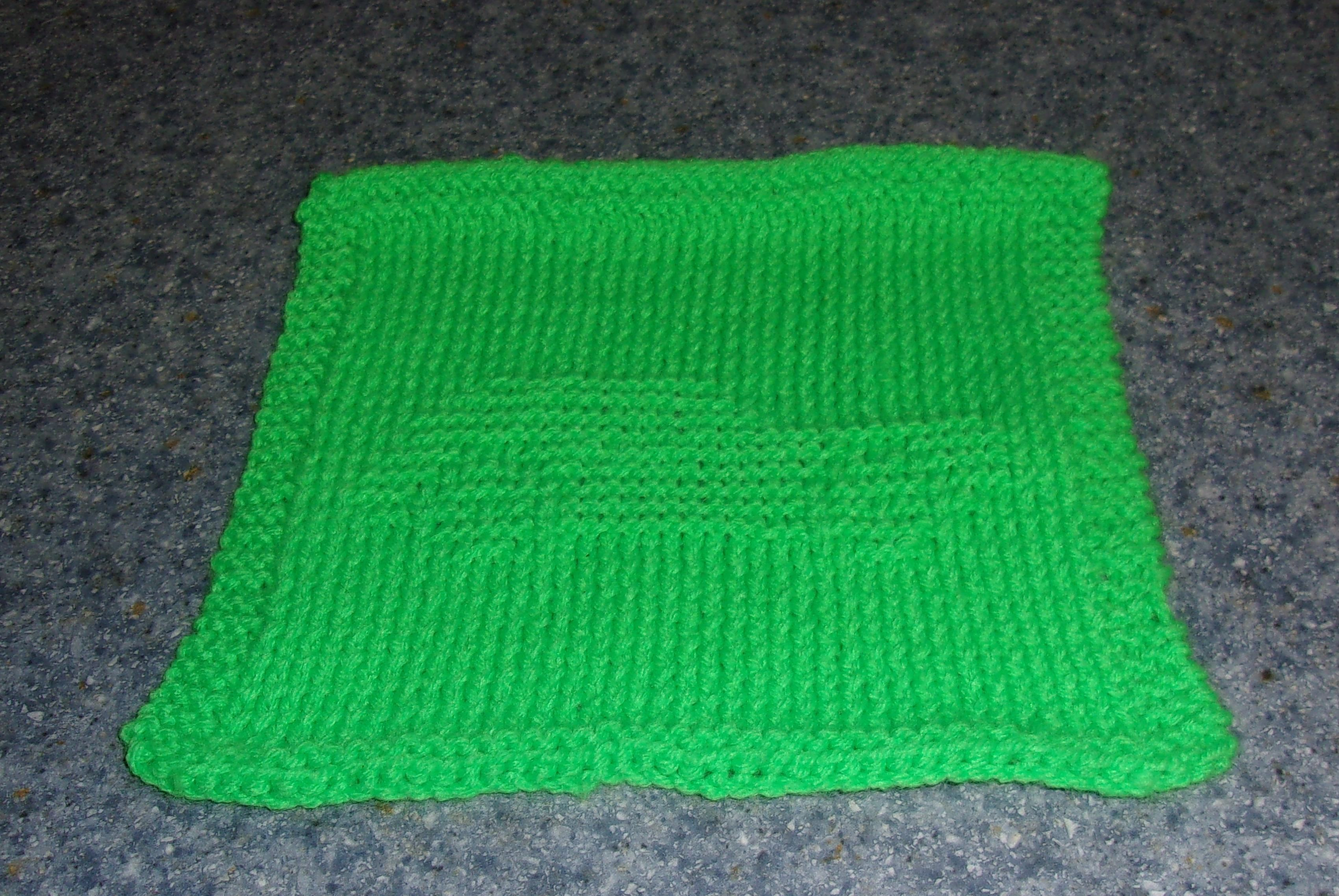 Knitted AMC Gremlin Dish Cloth - my original design. Pattern ...
