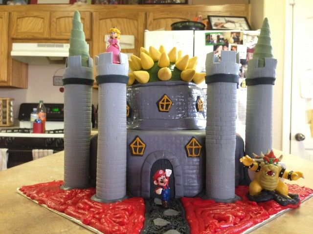 Bowser Castle Big Ben Is  Pinterest Bowser Mario Bros Cake - Bowser birthday cake
