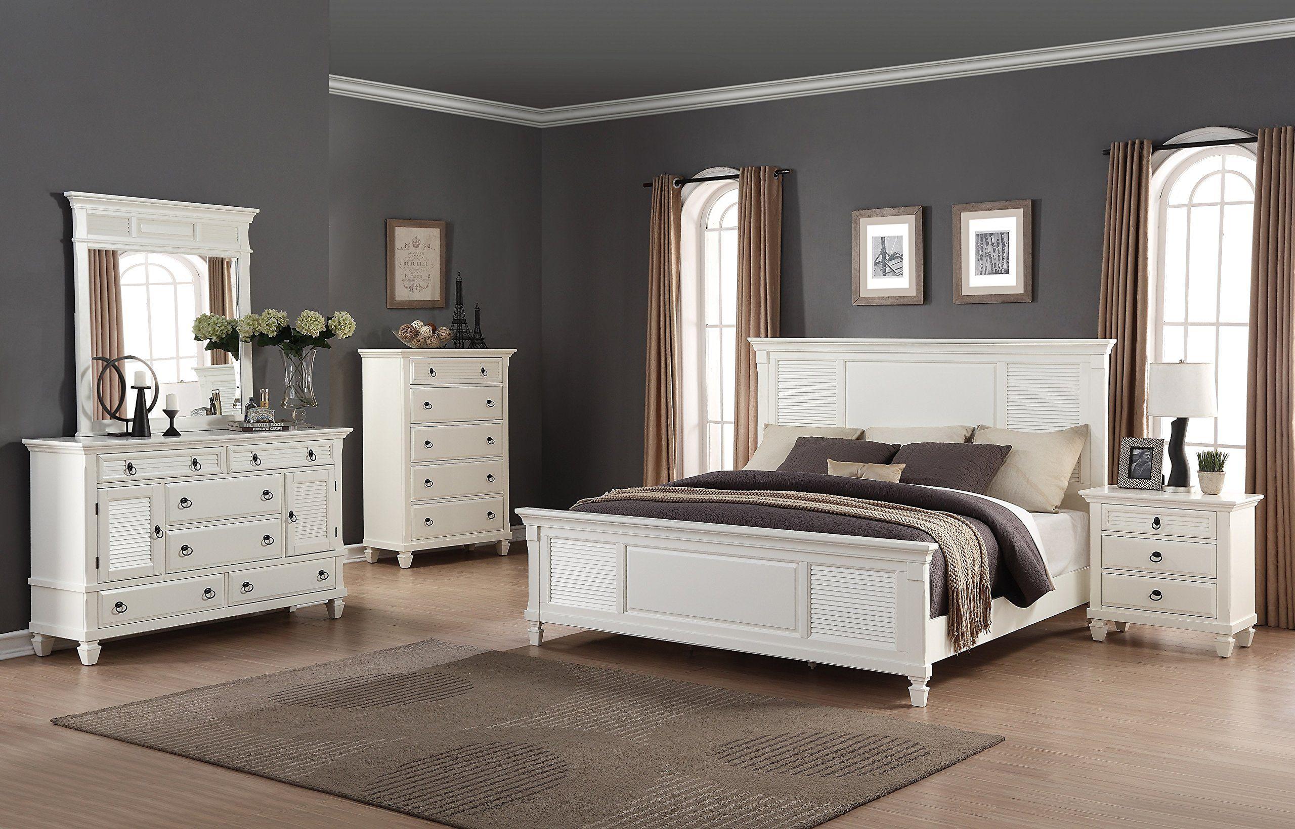 Roundhill furniture regitina bedroom furniture set queen bed