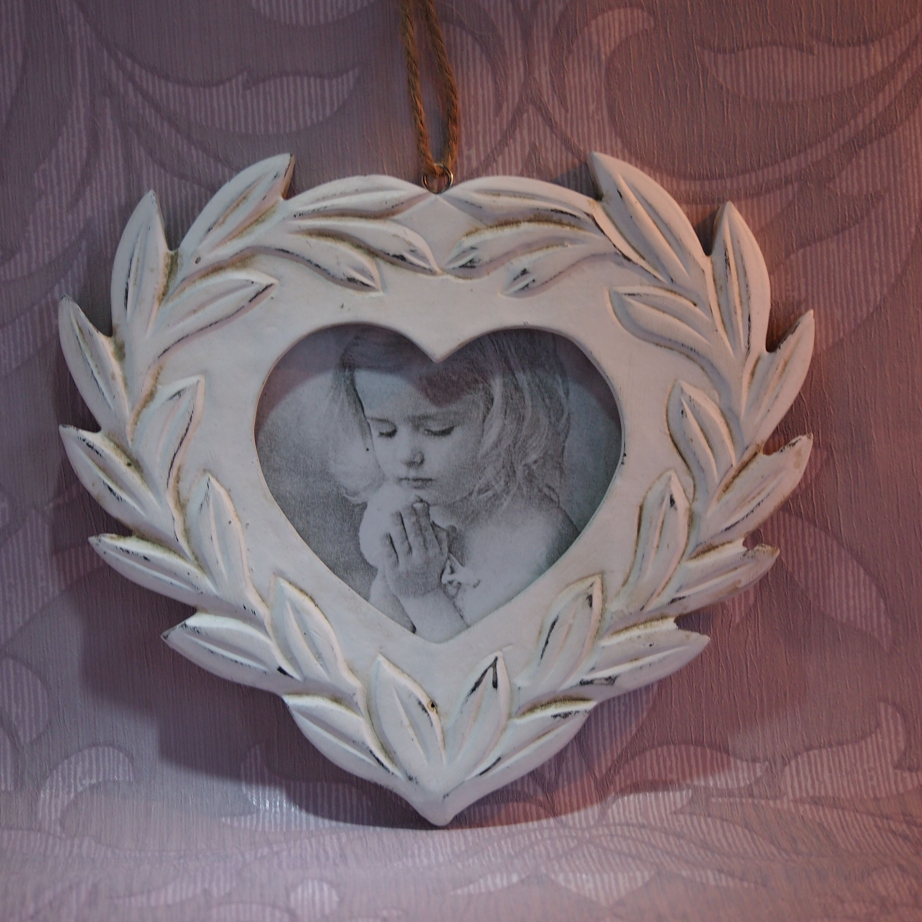 Shabby Chic Heart Shaped Picture Frame Order Online Www