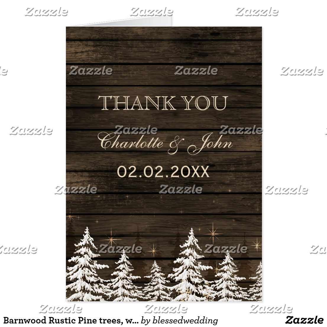 Christmas Wedding Thank You Cards