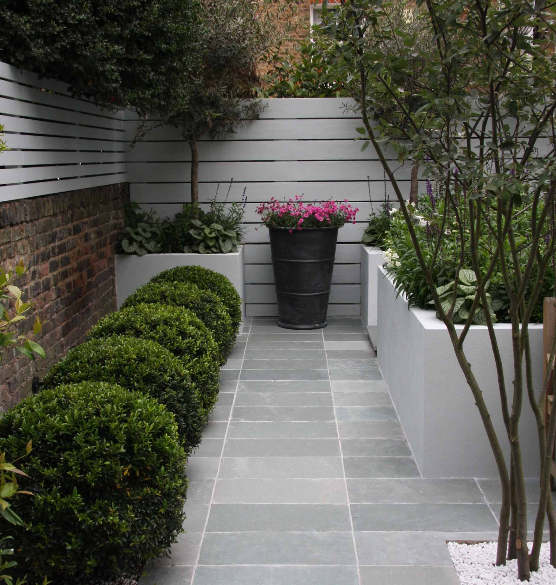 blue grey limestone paving for the exterior space picks up on