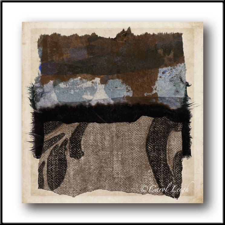 """Carol Leigh: Latest work: """"Of the Earth"""" This is a physical collage I made from torn papers, hand-painted papers, and wallpaper."""
