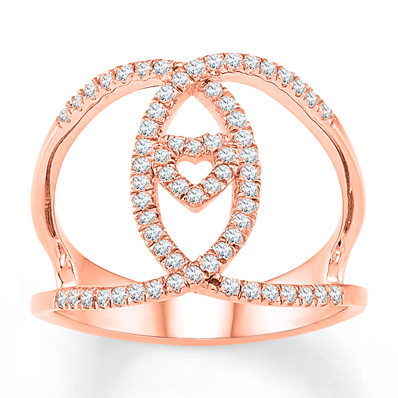 ccfadb1b7 Diamond Ring 1/4 ct tw Round-cut 10K Rose Gold in 2019 | Products ...