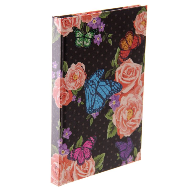 A6 Midnight Butterfly Notebook
