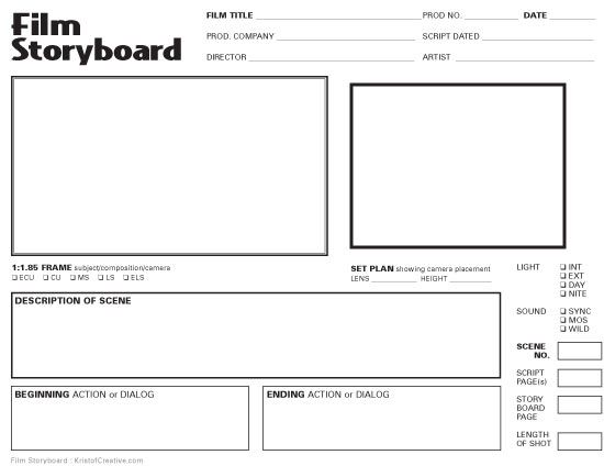 24 Frame Storyboard Film And Tv Template Storyboard Film Film Day And Nite
