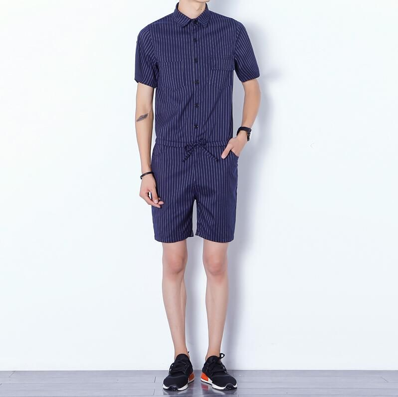 18ebb1007af7 2016 Harajuku Gothic Aesthetic Revolution Rompers For Men Striped Mens  Jumpsuit Harem Cargo Overalls Summer Casual .
