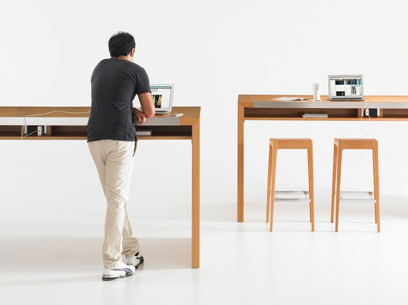 standing office table. this is a great option for open shared office space plus i love to work standing up table c
