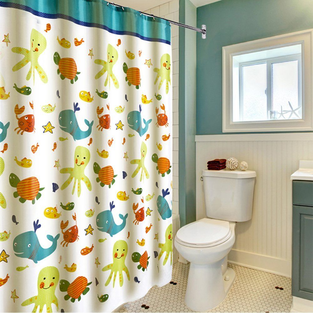 Amazon Com Latest Style Children Cartoon Shower Curtain Wimaha