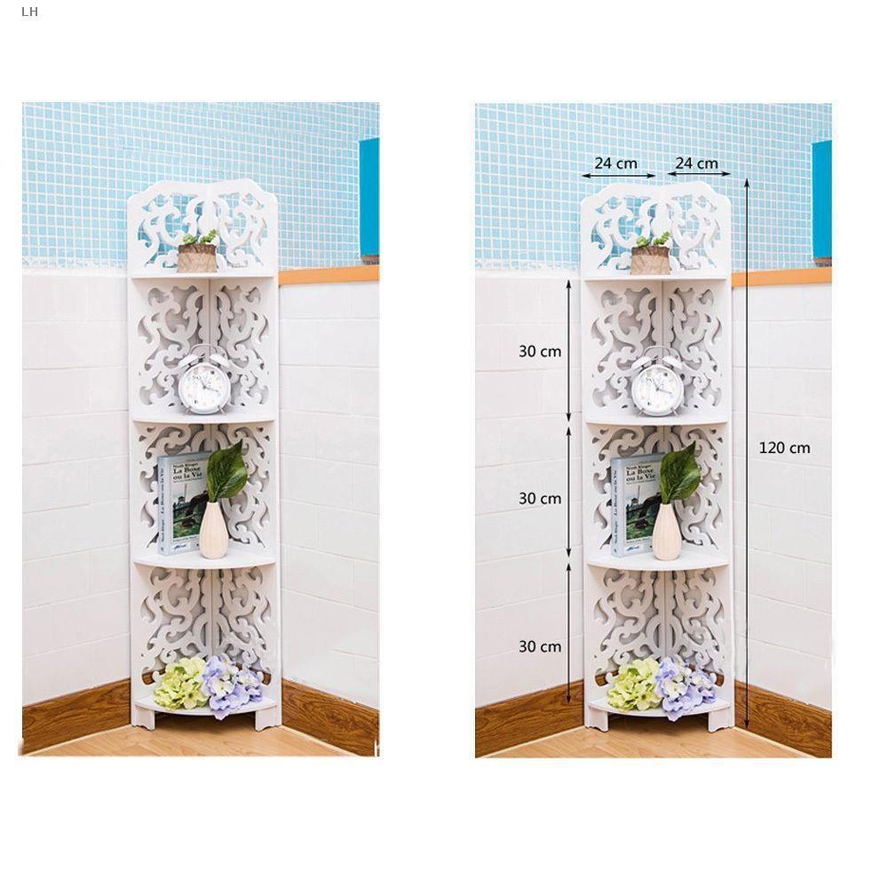 Ktaxon 4 Tiers Wood-Plastic Composites Corner Shelves