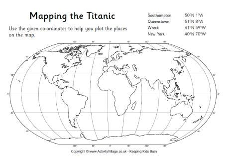 Mapping the Titanic Worksheet and more worksheets from Activity ...