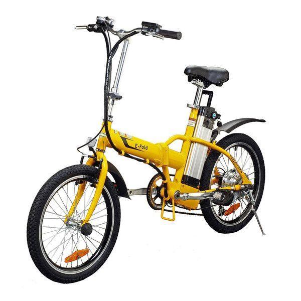 Yukon Trail Bicycles Folding Electric Bike Yellow 20 Inch One Size Folding Electric Bike Electric Bike Electric Bicycle