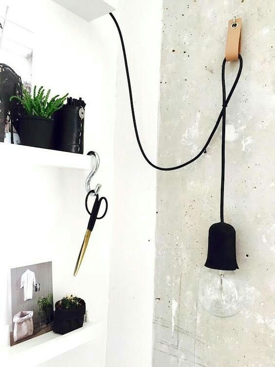 Leather Pull Bedside Light Simple Lamp Wall Lamp Design Bedside Lighting