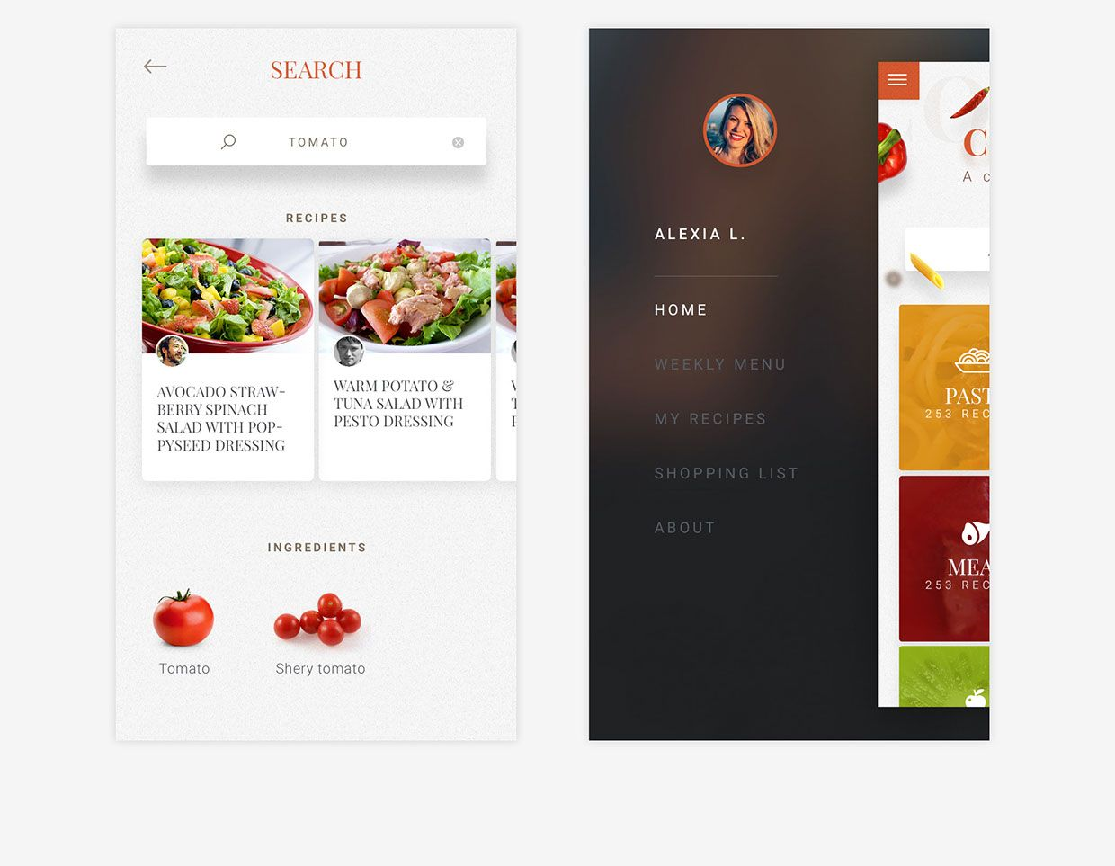 Free cooking recipe app template on behance ui food free cooking recipe app template on behance forumfinder Image collections
