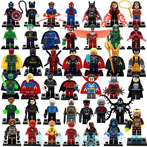 42Piece/Set 4.5 cm. Marvel/SuperHeroes HULK/Flash/Deadpool/Loki/Thor/IronMan BuildingblocksMinifigures compatible Without Original boxes Superhero Building Blocks http://www.amazon.com/dp/B017CV84Y8/ref=cm_sw_r_pi_dp_xZOqwb0EZNCSY