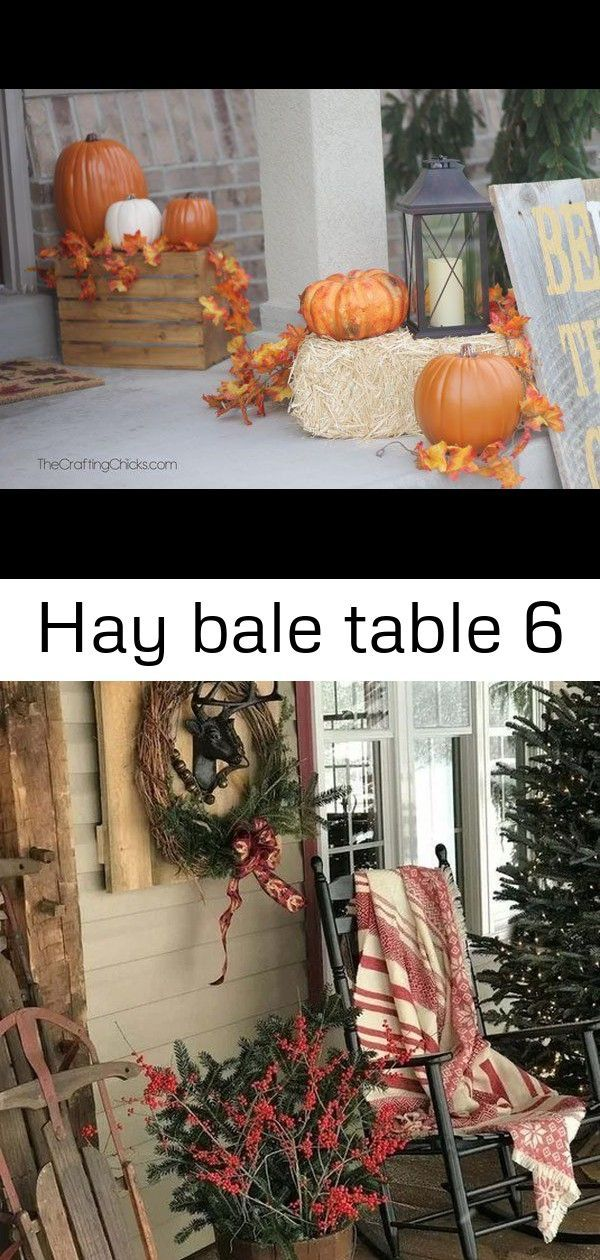 Hay bale table 6 #falldecorideasfortheporchoutdoorspaces Pin for Later: 11 Ways to Have the Prettiest Porch on the Block This Fall Hay Bale Table You don't have to be on a farm to make use of hay bales. Use their surface like that of a table, and display your decor on multiple levels. 128 wonderful christmas decorating ideas for magical outdoor spaces -page 42 ~ Modern House Design Rolls Novinka Cafe by ALLARTSDESIGN 6 #falldecorideasfortheporchoutdoorspaces