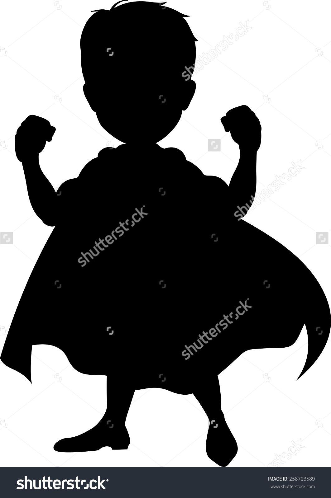 Super Hero Kid Silhouettes Google Search Kids Silhouette Kids Class Superkids