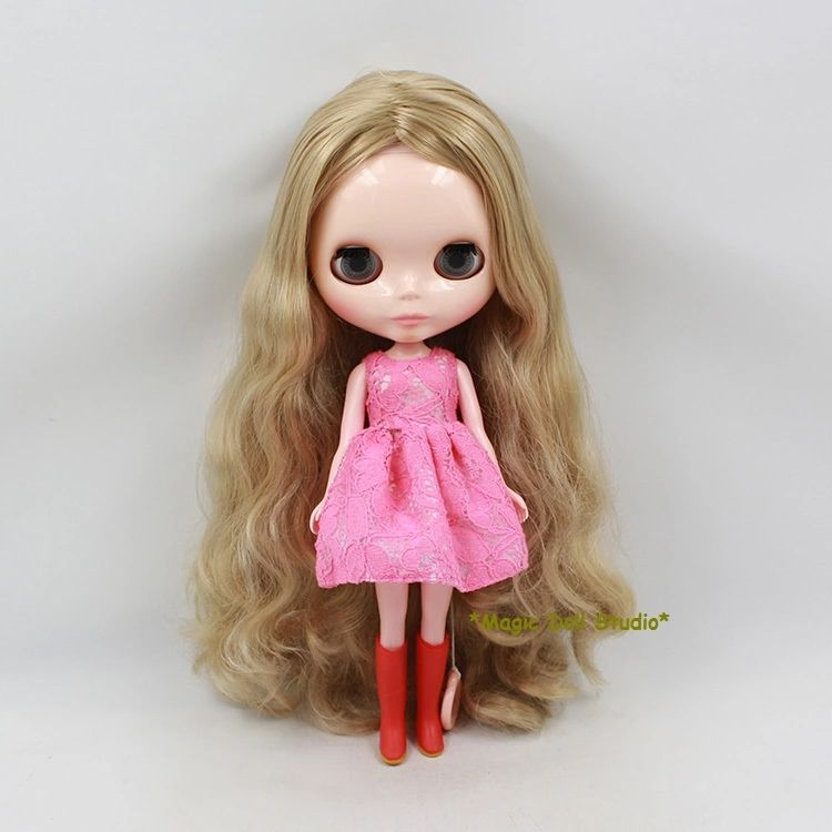 12 Blyth doll 7 Joint Nude Doll & Pale Gold Long Hair