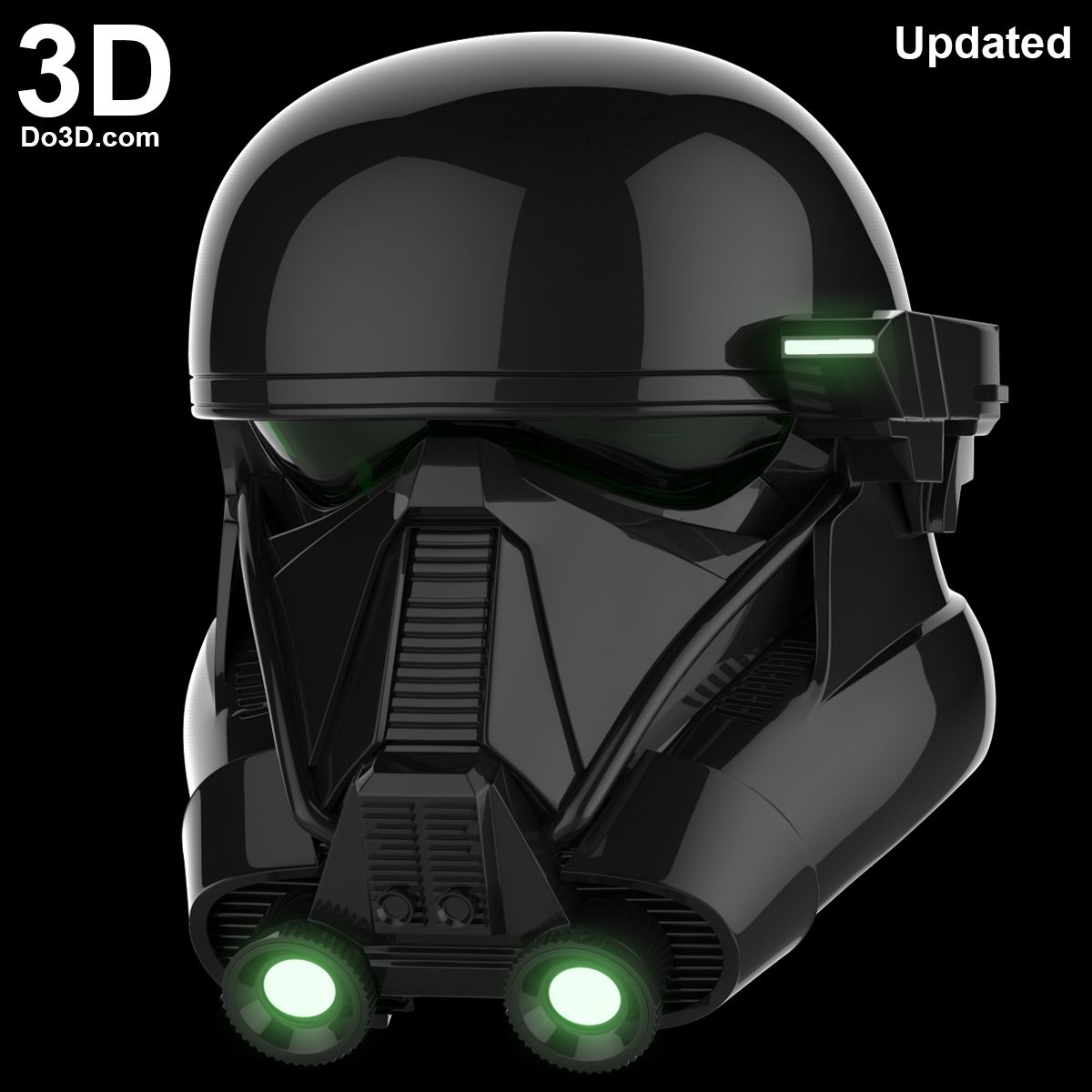 3d printable model death trooper helmet from rogue one a. Black Bedroom Furniture Sets. Home Design Ideas