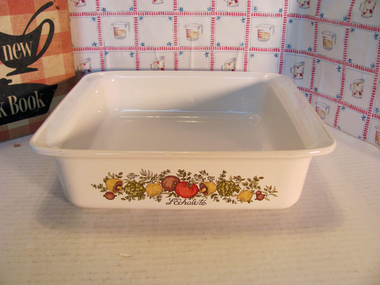 Corning Ware Spice of Life Brownie Pan Baking Dish Lasagna Pan Vintage Kitchen Cookware