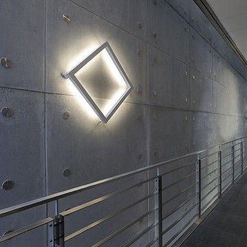 Open Grill Ceiling & Wall Light Silver grey - 7157384U