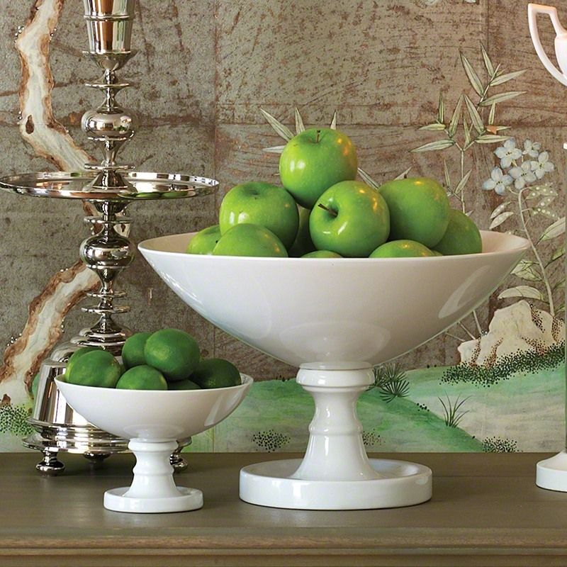 White Grande Pedestal Bowl is part of Home Accessories Luxury Beverly Hills - White Grande Pedestal Bowl (D00045)   Sold by www designandboard com