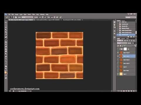 Tutorial: Hand painting tileable brick texture in photoshop