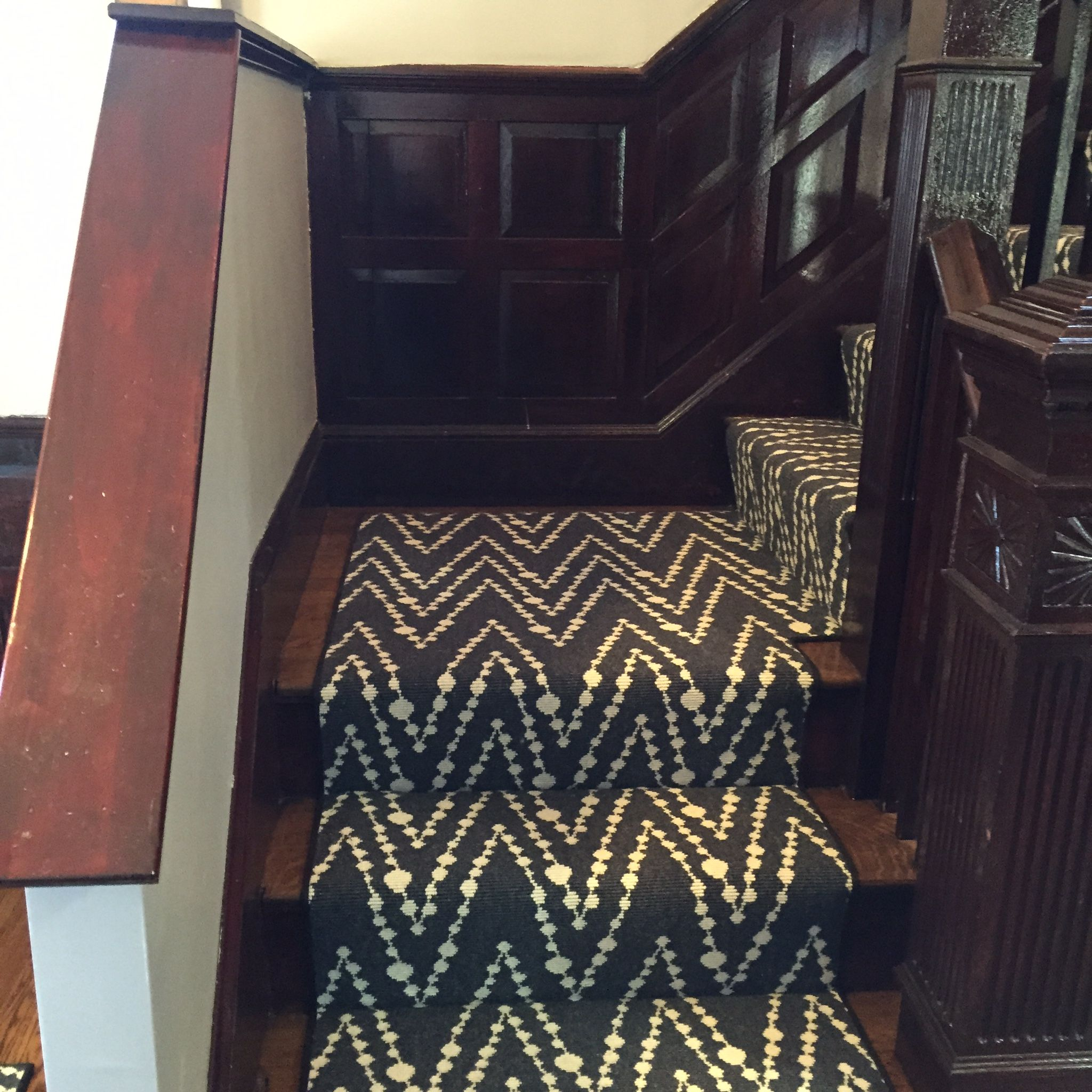 This Is A Prestige Mills Carpet And The Style Is Hippie Beads Carpet Stairs Home Carpet Stair Runner