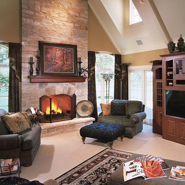 Cozy Winter Homedecor: Talk About Cozy ! This Warm, Inviting Living Room Features