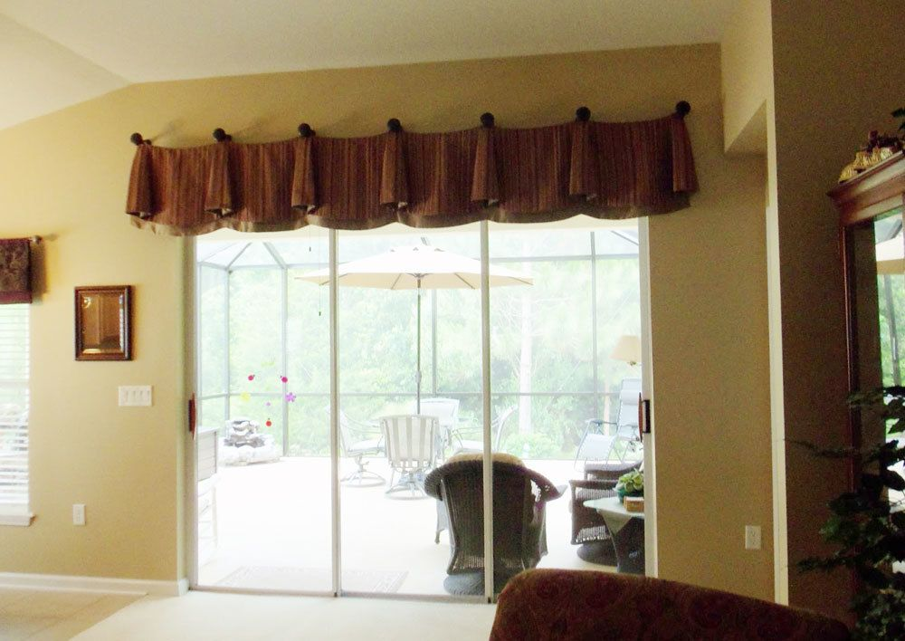 Wonderful Bust Of Window Valance For Sliding Door That Will Present Mesmerizing  Outlook In Your Home Decorating