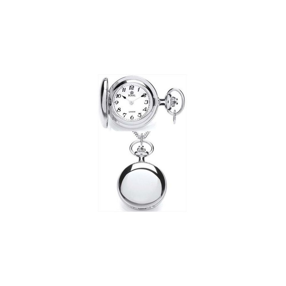 Royal london ladies polished chrome plated full hunter pendant royal london ladies polished chrome plated full hunter pendant necklace watch pendant watches from pocket mozeypictures Images