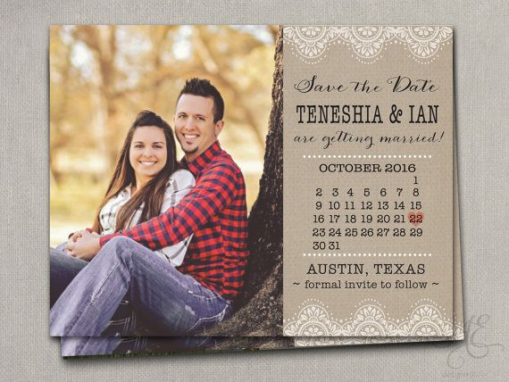 Wedding Save the Dates Magnets Magnets Cards by SAEdesignstudio