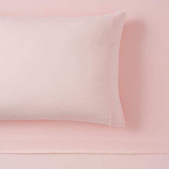 Essential Jersey Pillowcases Set Of 2 Quartz Blush In 2020