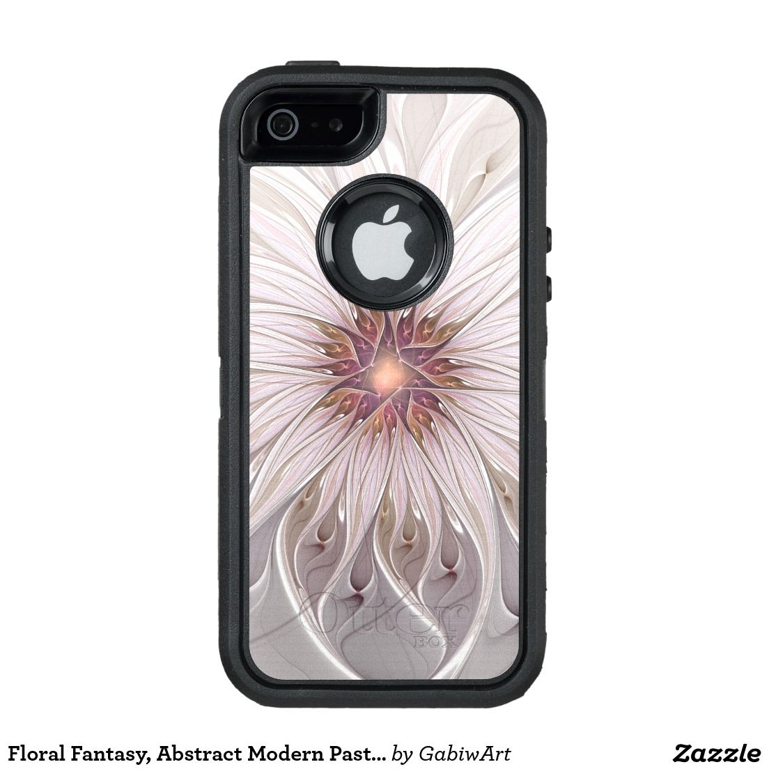 Floral Fantasy, Abstract Modern Pastel Flower OtterBox Defender iPhone Case
