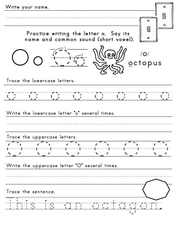 Letter-O-Worksheet-1 | Letters of the Alphabet | Pinterest | Letter ...