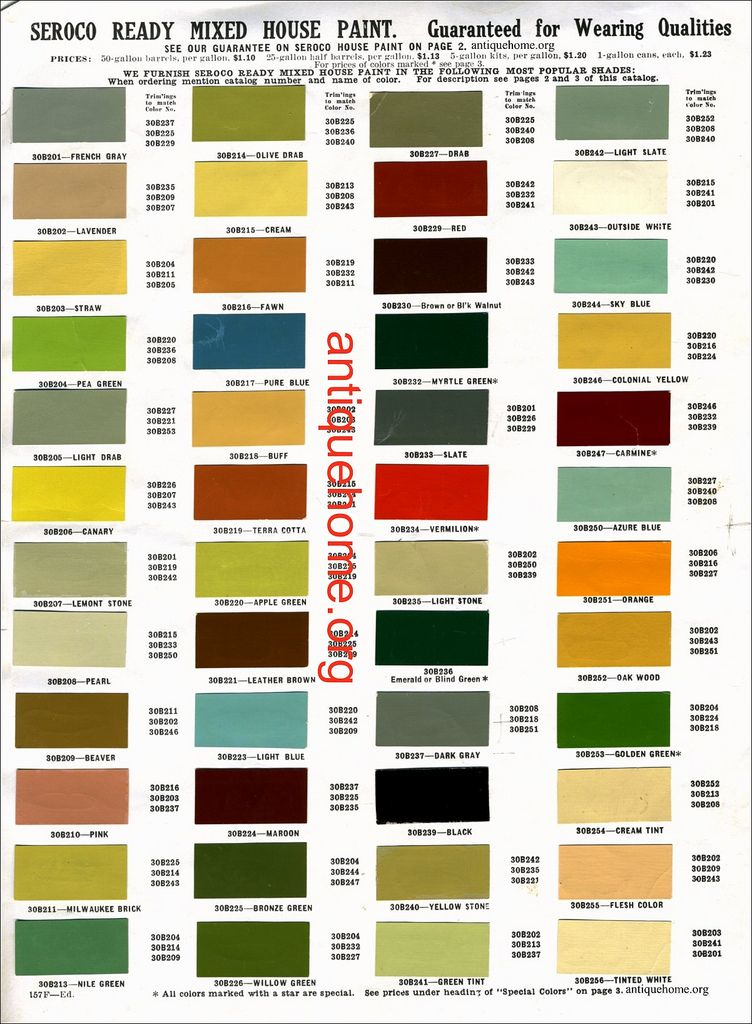 seroco house paint 1910 in 2020 paint charts paint on interior color combinations for homes id=63550