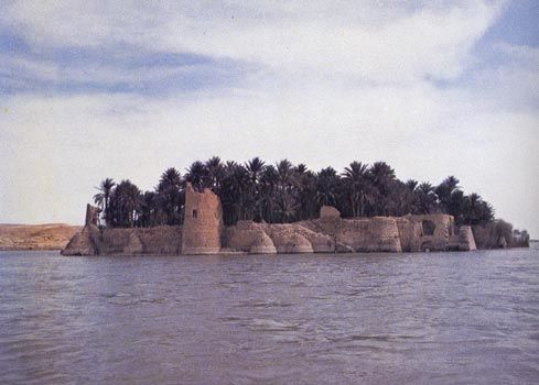 The ruin of Anah castle which is belong to Abbaseate era, lie in the Haditha city, Anbar province, Iraq