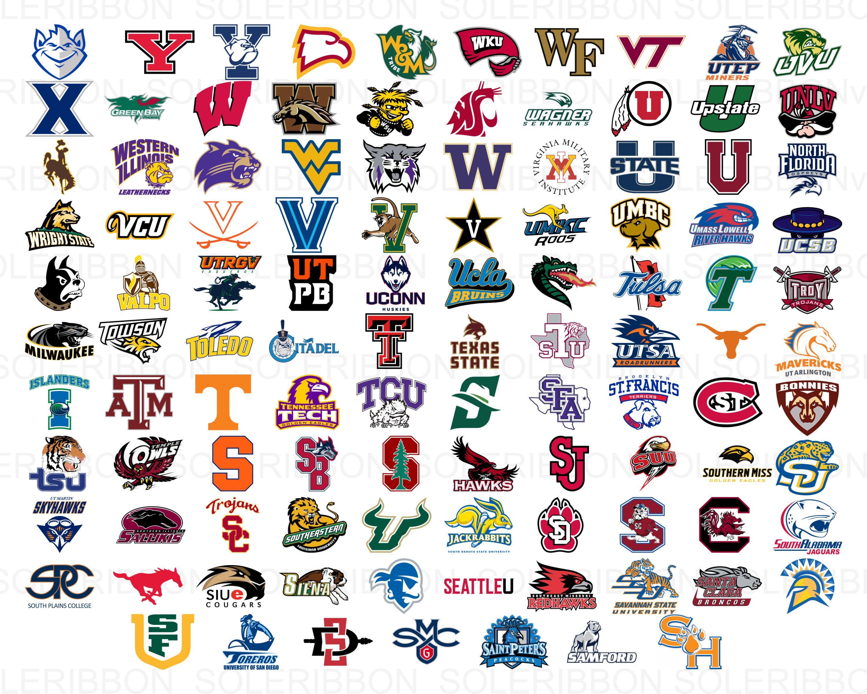 All College Logos Bundle 385 College Logos Svg University Etsy College Logo College Football Logos Logo Bundle