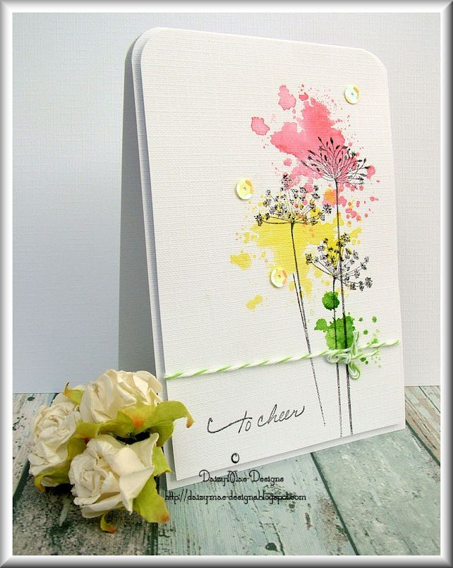 Daizy Mae S Crafty Blog To Cheer Flower Cards Floral Cards Creative Cards
