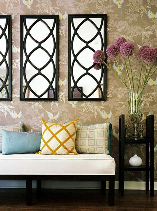 Charming Mirror Wall Design Ideas · Mirror DecorationsLiving Room ... Design Ideas