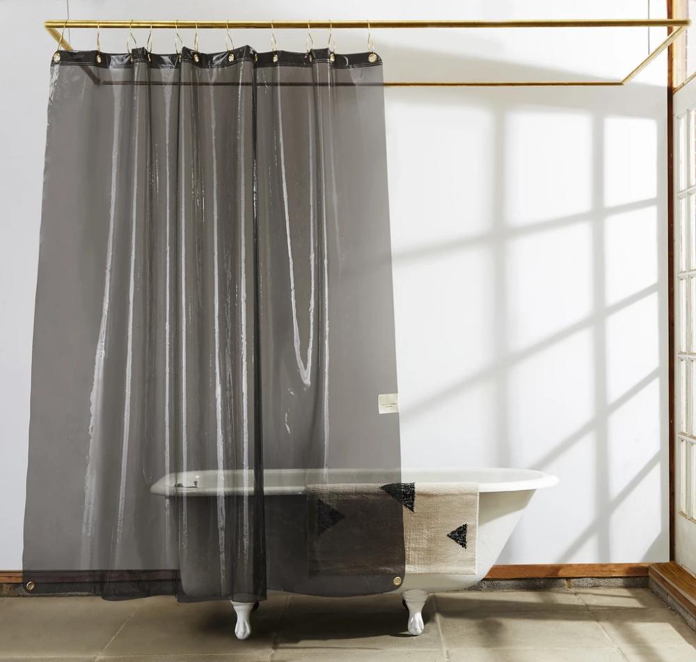 Sun Shower Clear Black Eva Liner With Images Vinyl Shower